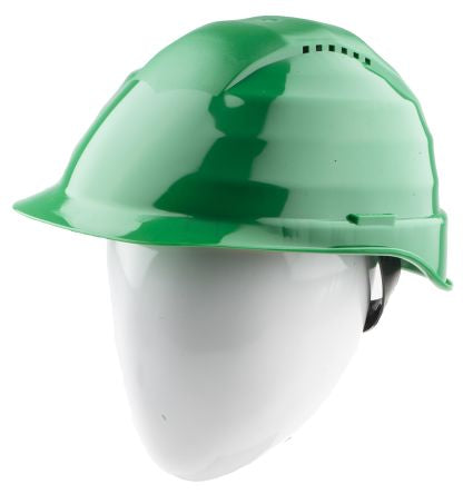 Photo of Alpha Solway Hard Hat Rockman Green Ventilated Safety Helmets C6