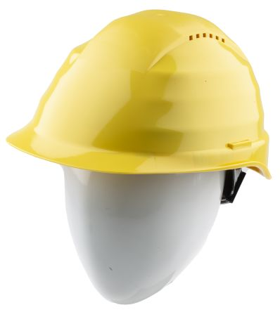 Photo of Alpha Solway Hard Hats Rockman Yellow Safety Helmet Ventilated Rockman C6R Yellow
