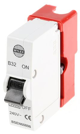 Wylex 32A 1 Pole Type B Miniature Circuit Breaker Plug In B Series