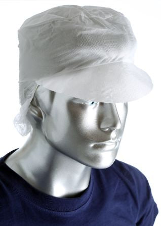 Photo of PAL Disposable White Hair Cap One Size Snood Cap Electronics Food Industry Pharmaceutical Box of 100 D89110ON