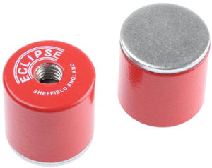 Eclipse 20.5mm Threaded Hole Aluminium Alloy Magnet Pack of 2, 832 Pot Magnets