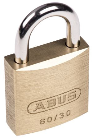 Photo of ABUS Padlock 30mm Brass Steel Key XR0060 30 Padlocks 5mm x 14mm Shackle Locks