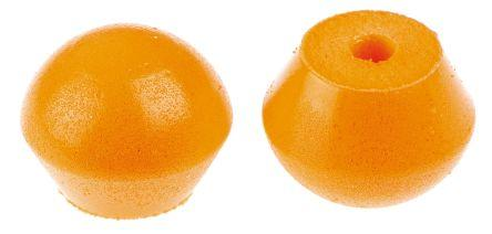 3M Reusable Orange Polyurethane Band Ear Plugs, 26dB, 20 Pairs