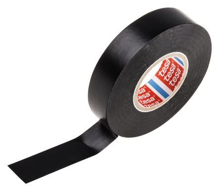 Photo of Tesa Tesaflex 4163 Black Electrical Tape 19mm x 33m TESA4163BLACK PVC Acrylic 7000V