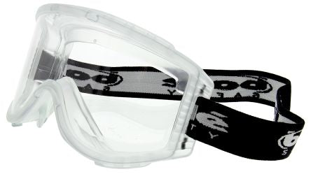 Photo of Bolle ATTACK Anti-Mist Coating, Scratch Resistant Polycarbonate (PC) Safety Goggles,ATPSI,Attack Multipurpose