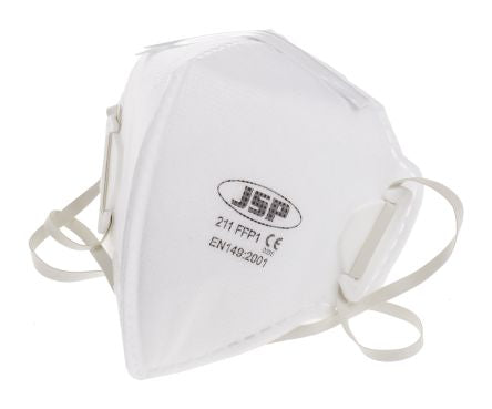 Photo of JSP Disposable Face Mask FFP1 Fold Flat Respirator Masks BEA110-101-B00 Box of 20