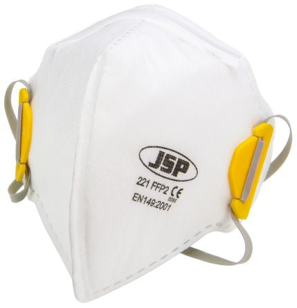 Photo of JSP Disposable Face Mask FFP2 Fold Flat Respirator Masks BEA120-101-B00 Box of 20