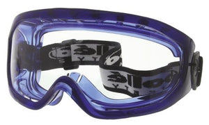 Photo of Bolle Anti-Mist Coating, Scratch Resistant Clear Polycarbonate (PC) Safety Goggles,BLAPSI,Clearblue Goggle