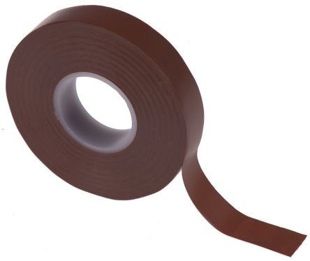 Photo of Advance Tapes AT7 Brown Electrical Tape 12mm x 20m 222582 PVC Rubber Resin BS EN 60454-3-1/Type 2