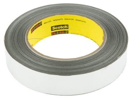 Photo of 3M 363 Conductive Aluminium Tape High Temp Foil/Glass Cloth Silver 25 mm x 33 m Acrylic +316°C / -54°C
