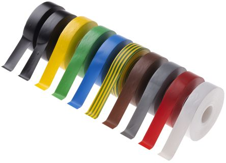 Photo of Advance Tapes AT7 Assorted Electrical Tape 19mm x 33m 229833 PVC 0.13mm Rubber Resin BS EN 60454-3-1/Type 2 8000V