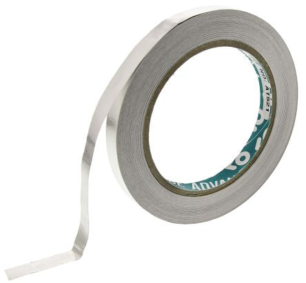 Photo of Advance Tapes AT521 Conductive Aluminium Tape 0.07mm W.10mm L.33m Acrylic +155°C / -20°C BS EN 60454 - Part 2