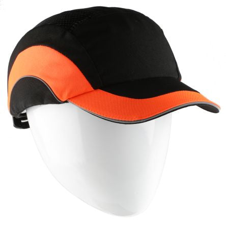 Photo of JSP Black/Orange Standard Peak Safety Cap, HDPE Protective Material