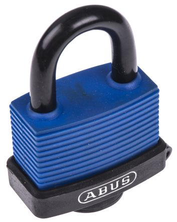 Photo of ABUS Padlock 53mm Brass Stainless Steel Key Weatherproof Padlocks Blue Locks