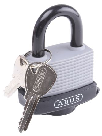 Photo of ABUS Padlock 53mm Aluminium Steel Key Safety Padlocks Grey Locks