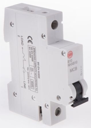 Wylex 10A 1 Pole Type B Miniature Circuit Breaker NSB Series 1