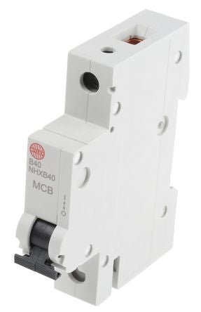 Wylex 40A 1 Pole Type B Miniature Circuit Breaker NSB Series 1