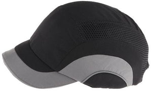 Photo of JSP Black/Grey Short Peaked Safety Cap, HDPE Protective Material