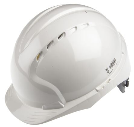 Photo of JSP EVO2 White HDPE Hard Hat Ventilated Safety Helmet AJF030-000-100