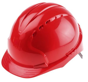 Photo of JSP EVO2 Red HDPE Hard Hat Ventilated Safety Helmet AJF030-000-600