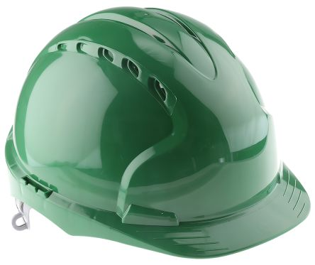 Photo of JSP EVO2 Green HDPE Hard Hat Ventilated Safety Helmet AJF030-000-300