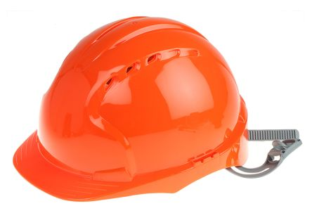 Photo of JSP EVO2 Orange HDPE Hard Hat Ventilated Safety Helmet AJF030-000-800