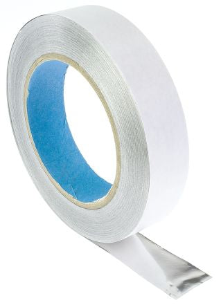 Photo of Wurth Elektronik Conductive Aluminium Tape 25mm x 33m EMI/RFI Shielding 3013325A Acrylate +85°C / -25°C