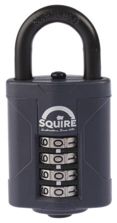 Photo of Squire Padlock 40mm Die Cast Alloy Combination Padlocks 20mm Shackle Size Blue Lock