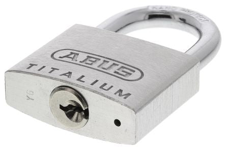 Photo of ABUS Padlock 40mm Titalium Key Weatherproof Padlock 6.5mm x 9.5mm Shackle Grey