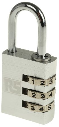 Photo of Padlock 30mm Aluminium Combination Padlocks Shackle 5mm x 26mm Indoor, Outdoor