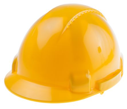 Photo of Yellow Hard Hat Ventilated Climbing Safety Helmet