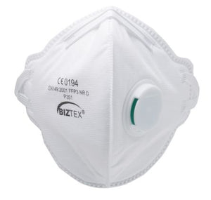 Photo of Disposable Face Mask FFP3 Fold Flat Valved Respirator Masks Box of 20
