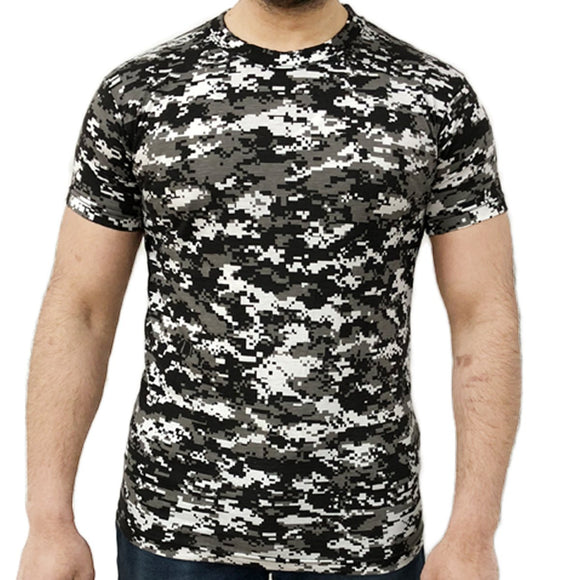 Digital Camouflage T-shirts, Urban Camo T Shirts S - 2XL, Camo Tops UK
