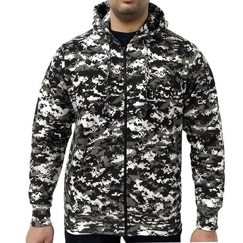 Digital Camouflage Zip Hoodie S - 2XL, Desert, Urban Camo Clothes UK