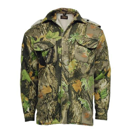Stormkloth Camouflage Shirt Fur Lined Hooded Shirts, Gods Country Camo