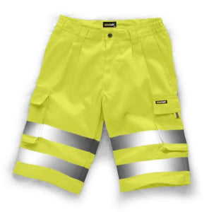 Hi Vis Shorts, Orange, Yellow Polycotton Work Shorts, Standsafe HV027