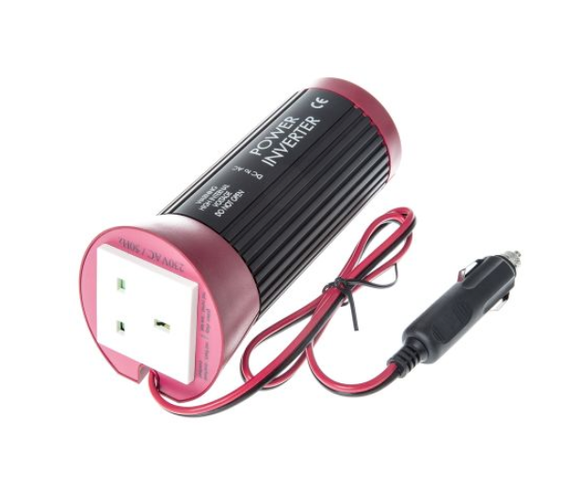 photo 1 of 100W DC-AC Car Power Inverter, 12V dc / 230V ac - UK 13A & Schuko Socket Output