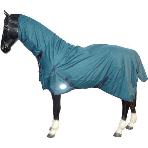 600DN Lightweight Combo Waterproof Turnout Rug - 5'6 to 6'9 - Turquoise
