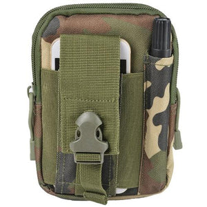 "Molle Tactical Pouch Utility Bag 6"" Smartphone Wallet Hunting Fishing Hiking"