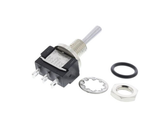 photo of Miniature Waterproof SPDT Toggle Switch, Mini IP67 Panel Mount Switches KNITTER-SWITCH MTE 106 G