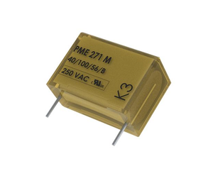 photo of KEMET Paper Capacitor 47nF 275V ac ±20% Tolerance PME271M Through Hole +110°C