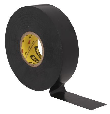 Photo of 3M Scotch Super 33+ Black Electrical Tape 19mm x 6m 80610833800 Rubber 8000V