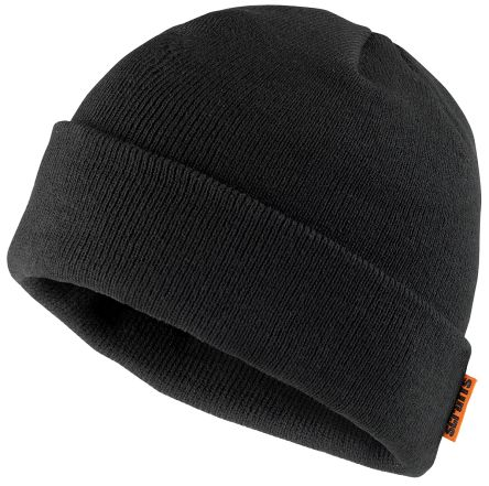 Photo of Scruffs Black Beanie T50987 Knitted Thinsulate Hat Work Hats Multi-Functional Headwear