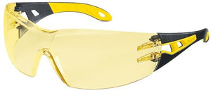 Photo of Uvex PHEOS Safety Glasses Spectacles Amber Anti-Mist 9192-788 Eyewear