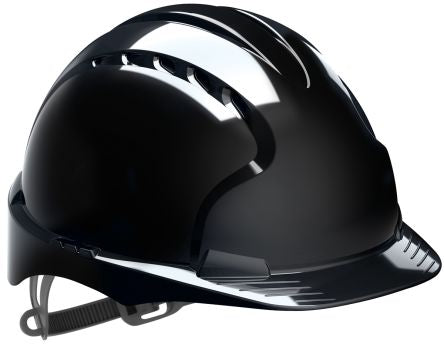 Photo of JSP EVO2 Black HDPE Hard Hat Ventilated Safety Helmet AJF030-001-100