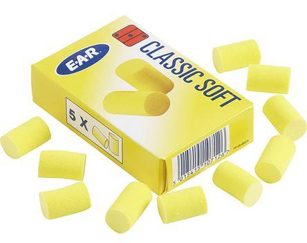 3M E.A.R Disposable Yellow Foam Uncorded Ear Plugs, 36dB, 200 Pairs