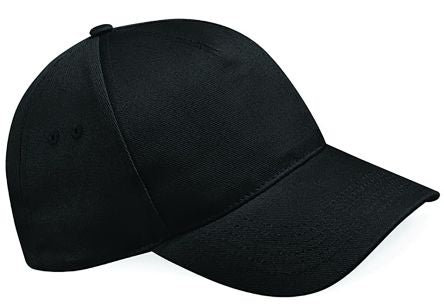 Photo of Black Cotton Cap Pro Ultimate 5 Panel Cap Work Hat