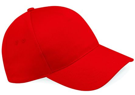 Photo of Red Cotton Cap Pro Ultimate 5 Panel Cap Work Hat
