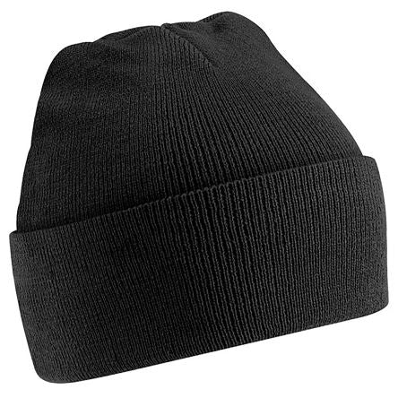 Photo of Black Beanie Original Cuffed Beanie Multi-Functional Headwear Work Hat