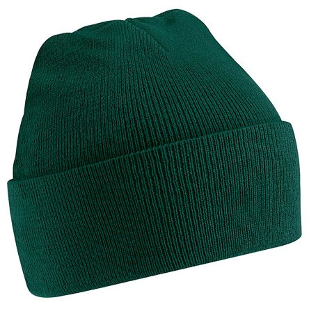 Photo of Green Beanie Original Cuffed Beanie Multi-Functional Headwear Work Hat